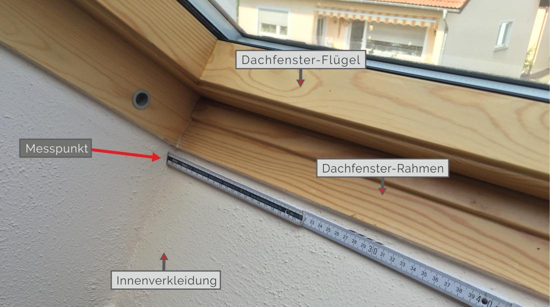 Messen der Dachfensterbreite